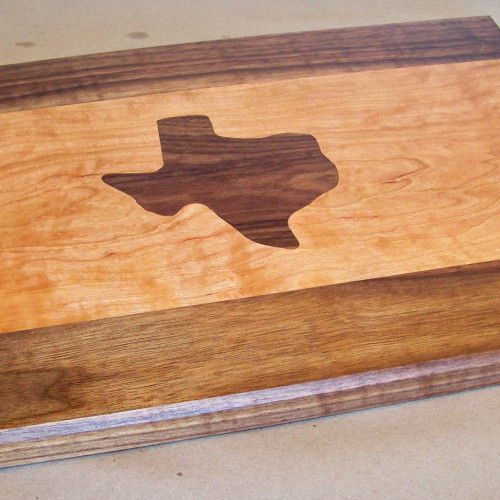 Stunning custom cutting board with cherry and walnut