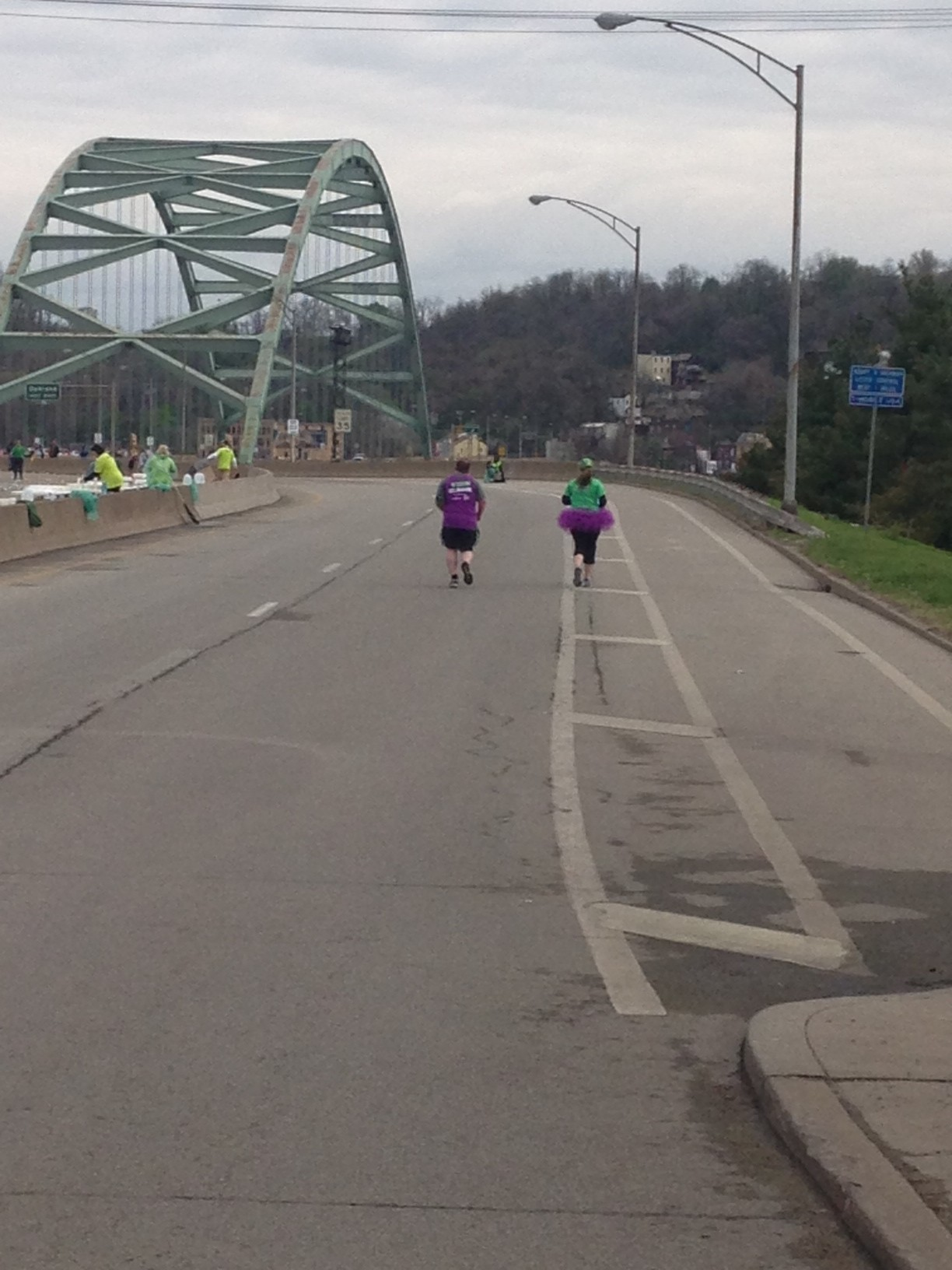 Mile 11: Heading to the Birmingham Bridge in Pittsburgh