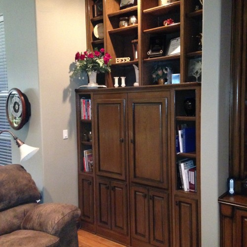 Oak display cabinets for living room